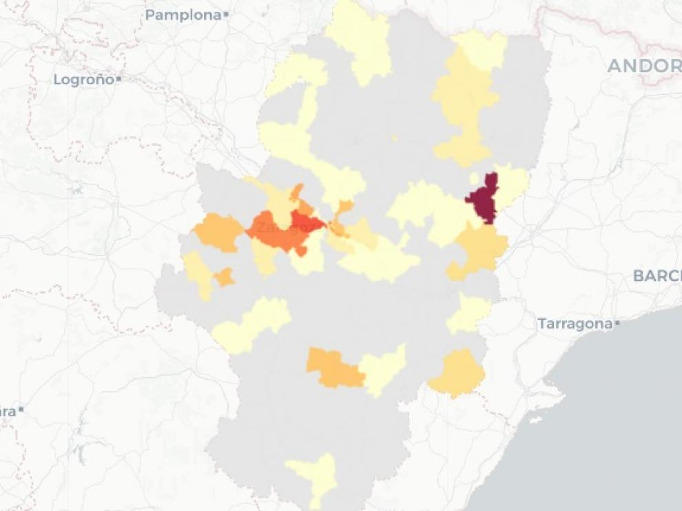 La zona de salud de Binéfar es la que peores datos de covid registra este viernes en Aragón.