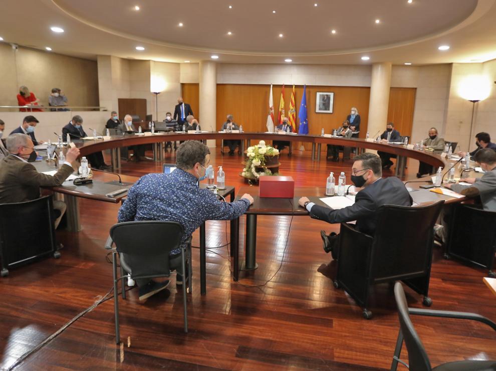 Pleno de la DPH de Huesca.