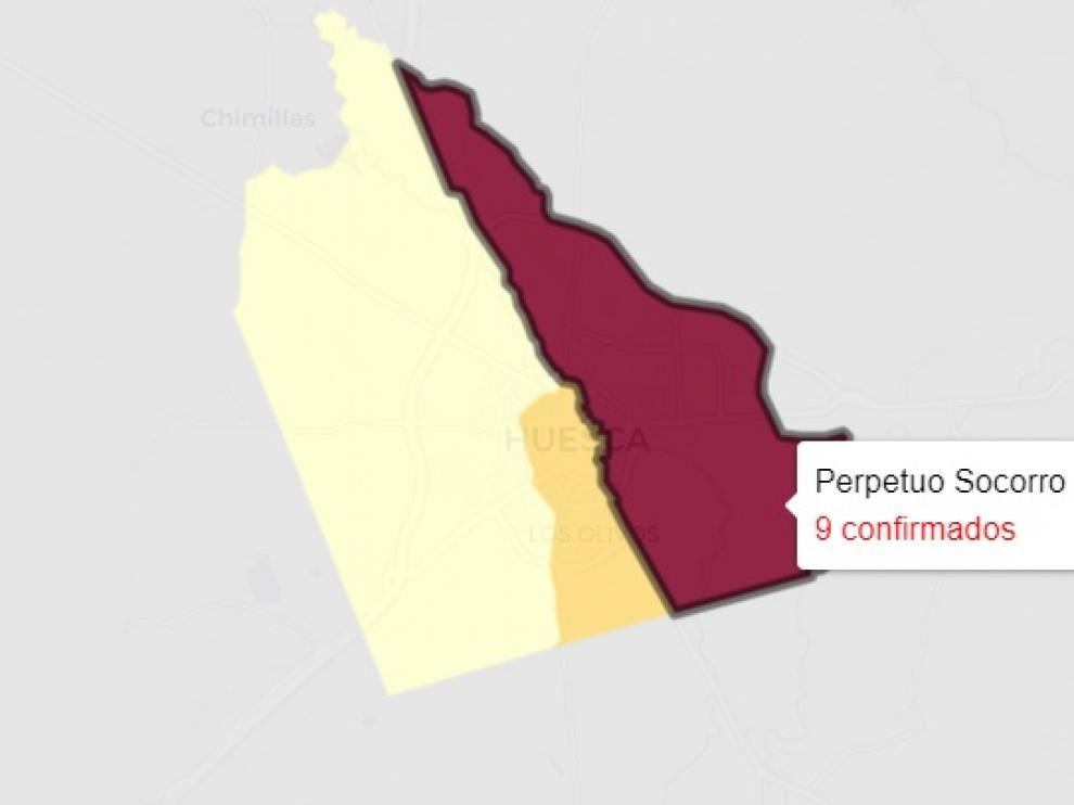 La ciudad de Huesca ha experimentado un notable repunte de casos de covid y aglutina 13 de los 25 informados este domingo.