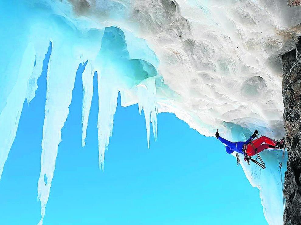Oriol Baró, en una de las escaladas que se podrá ver en su proyección de hoy.