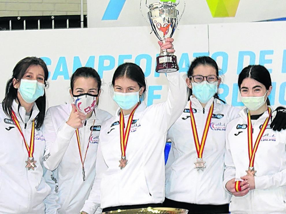 El Club Hielo Pirineos 1 consiguió la medalla de bronce.