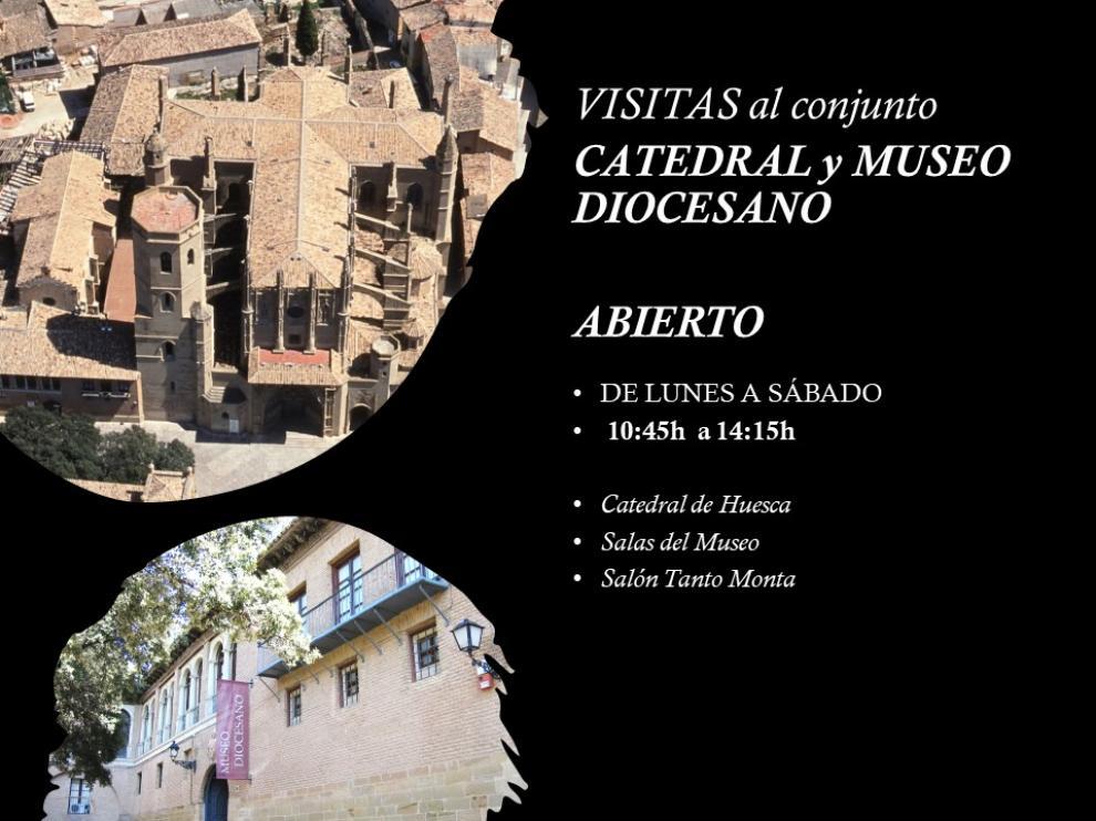 Cartel de la reapertura del Museo Diocesano de Huesca