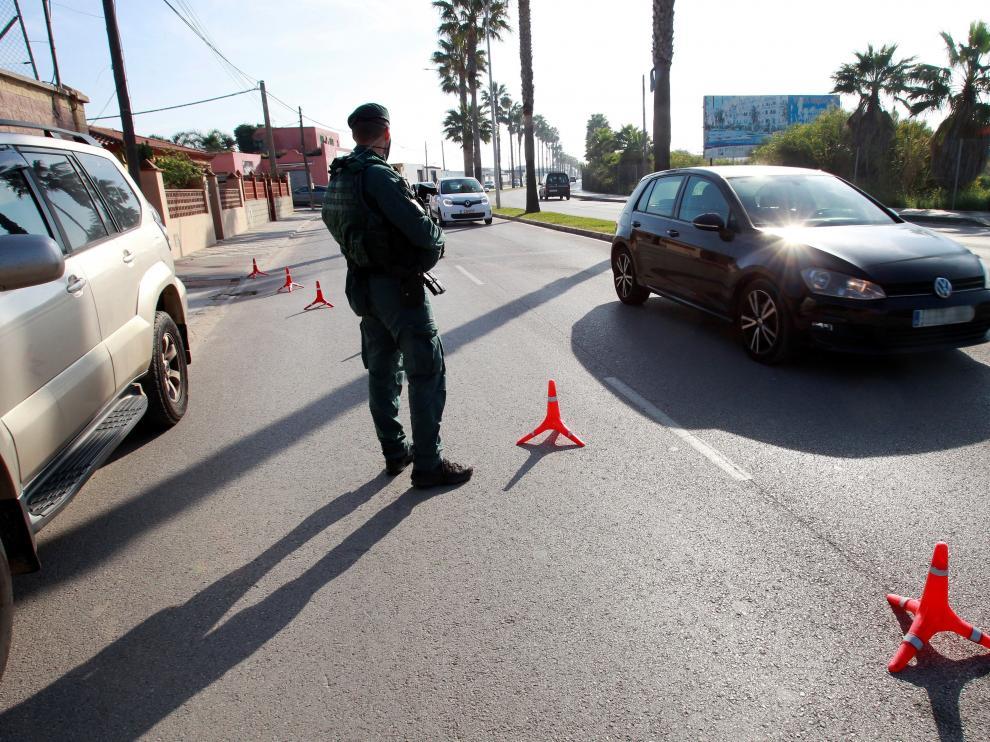 Controles policiales de la Guardia Civil