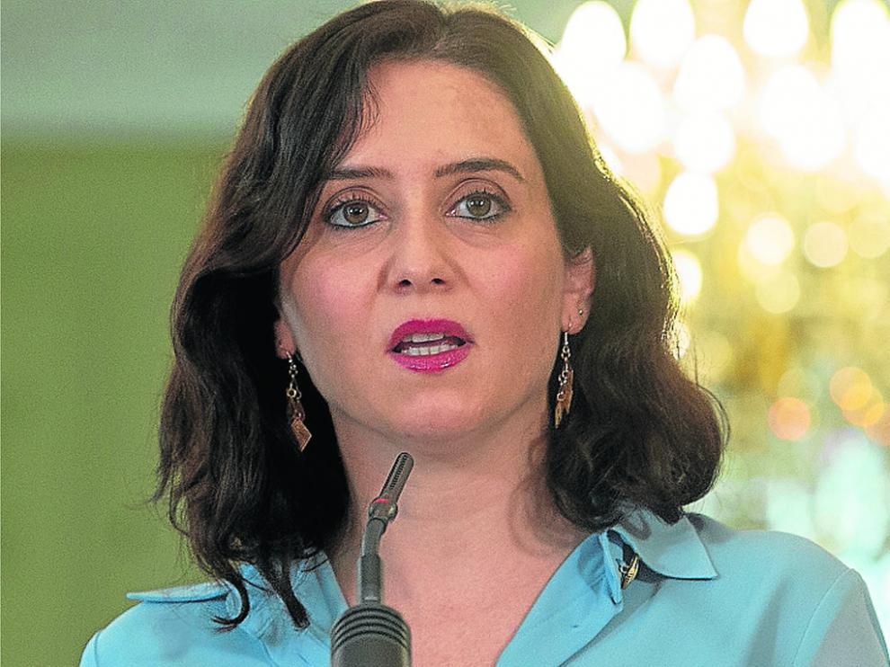 Díaz Ayuso, en la rueda de prensa convocada después de anunciar el adelanto electoral.