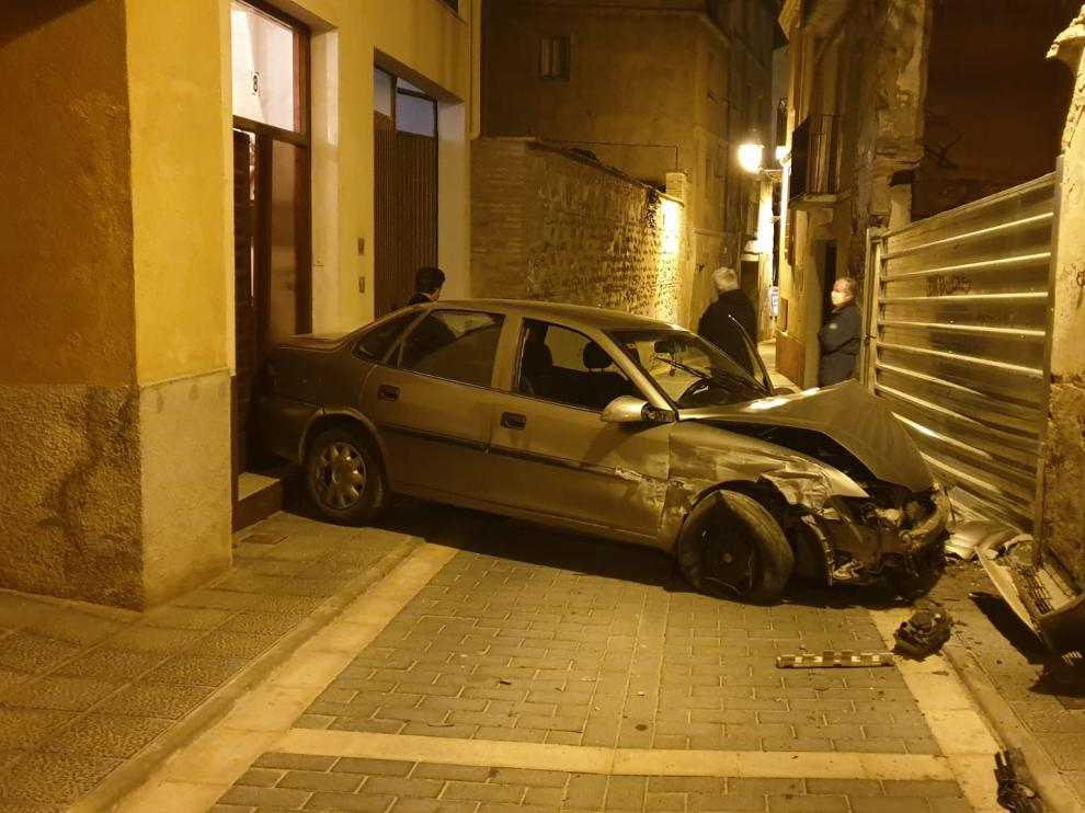 Accidente en la calle Los Hornos de Barbastro