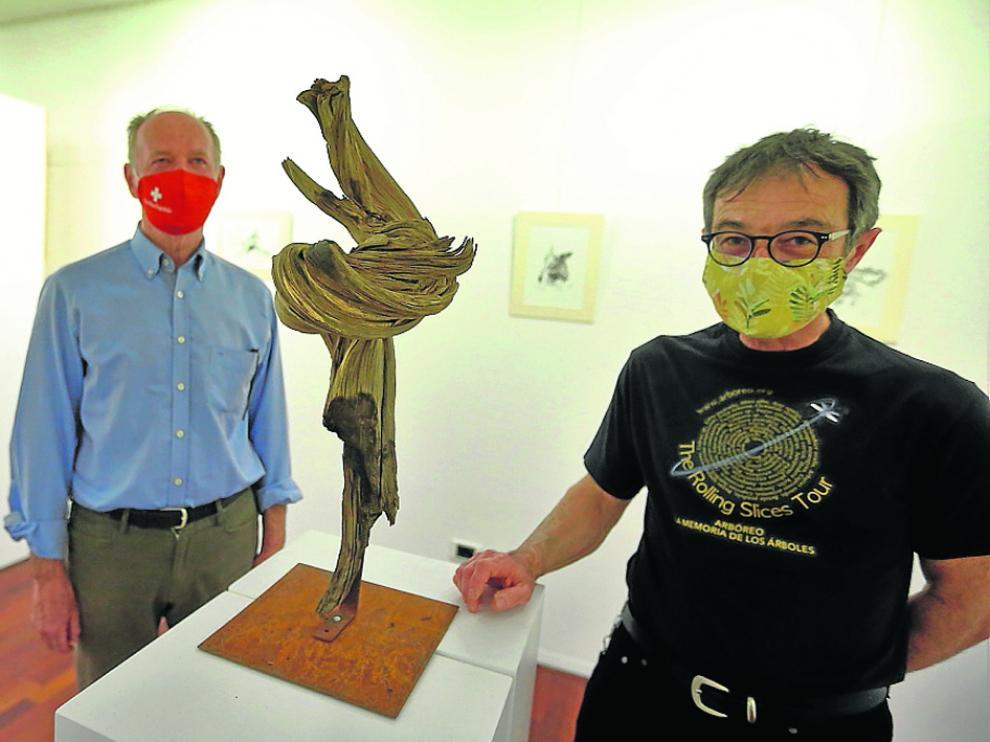 Bernardo Más y Miguel Ortega, en la exposición.