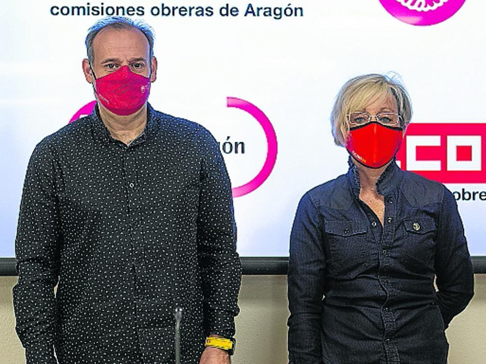 José Juan Arcéiz y Ana Sánchez, en rueda de prensa.