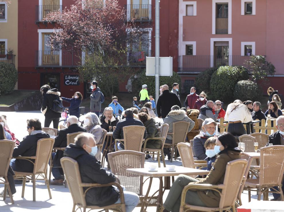 Primer fin de semana turístico en Jaca tras el desconfinamiento provincial