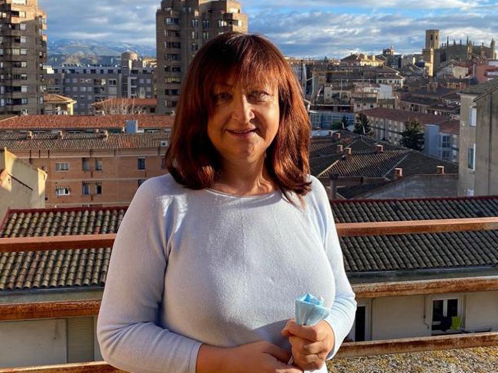 La presidenta de Feaccu-Huesca, Trinidad Valdovinos.