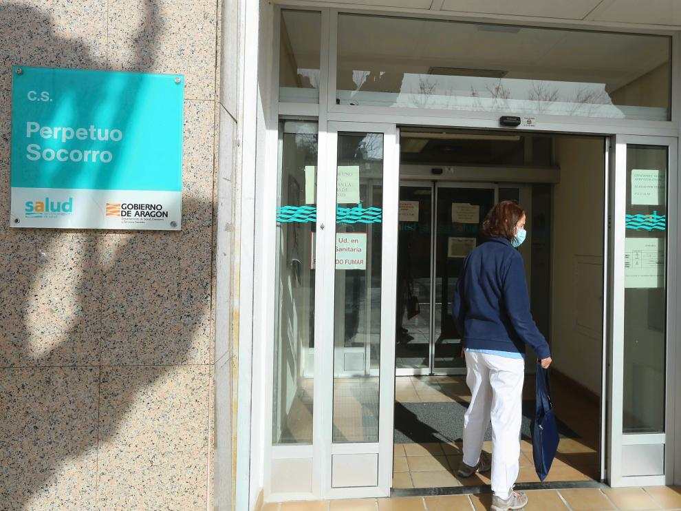 Centro de Salud del Perpetuo Socorro de Huesca.