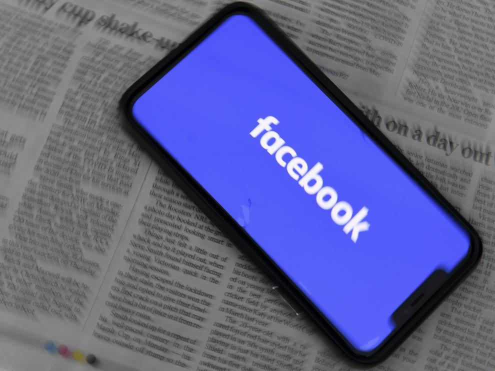 Facebook en un dispositivo móvil.