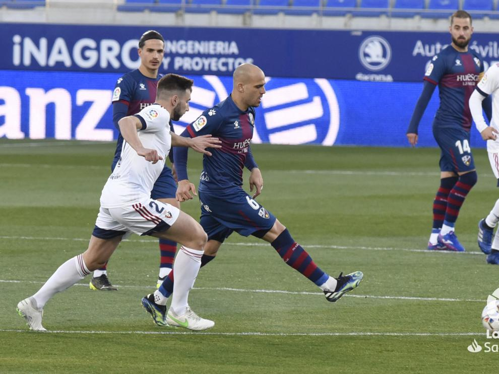 Sandro y Seoane, ayer ante Osasuna.