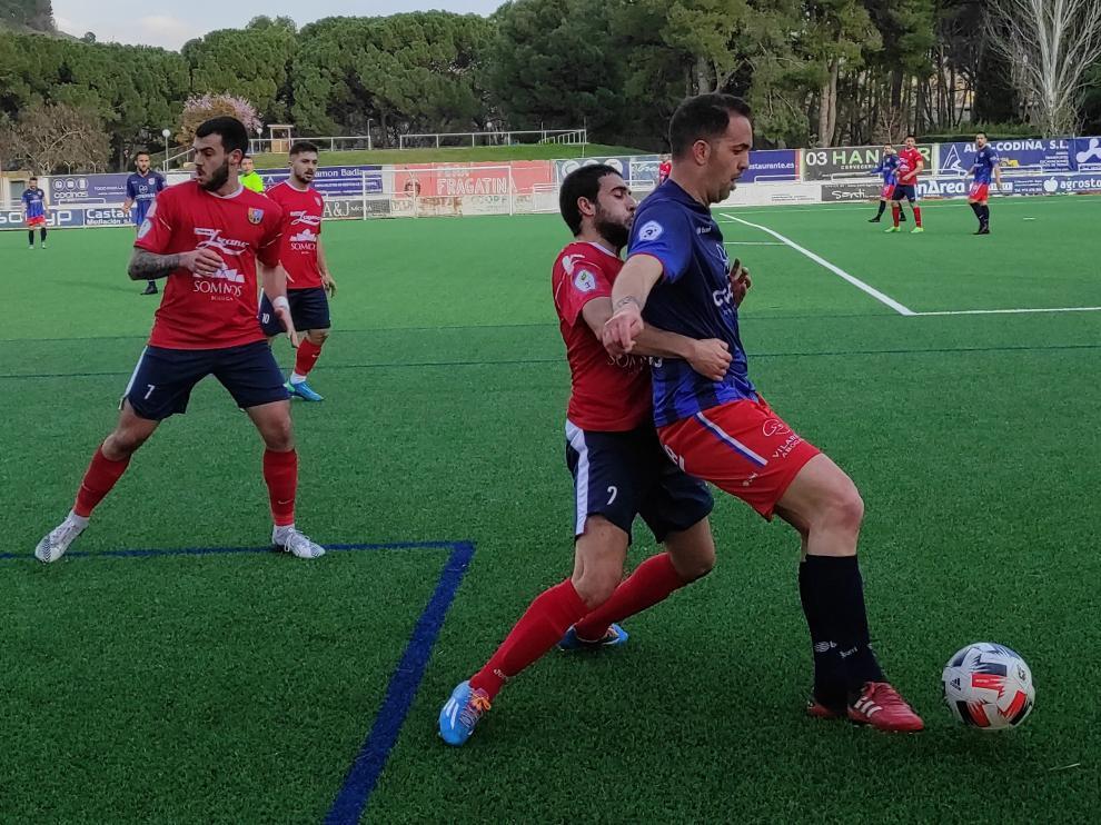 Imagen del partido que ha disputado el Atlético Monzón esta temporada en Fraga.
