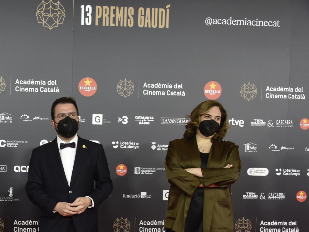 Pere Aragonès y Ada Colau