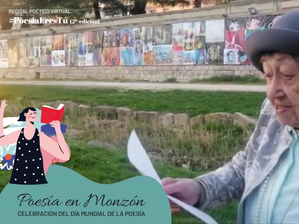 Una de las ganadoras del reto #PoesíaEresTú incluida en el video.