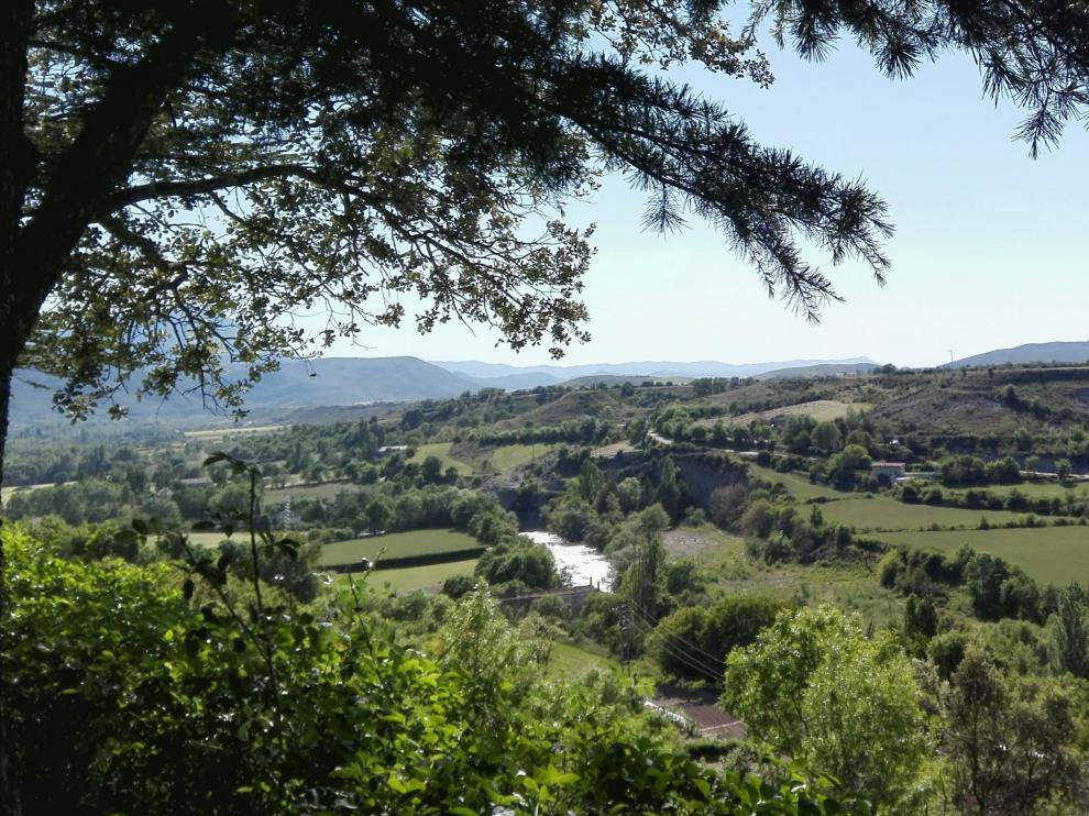 Zona donde se levantaría la variante desde el paseo de la Cantera de Jaca.