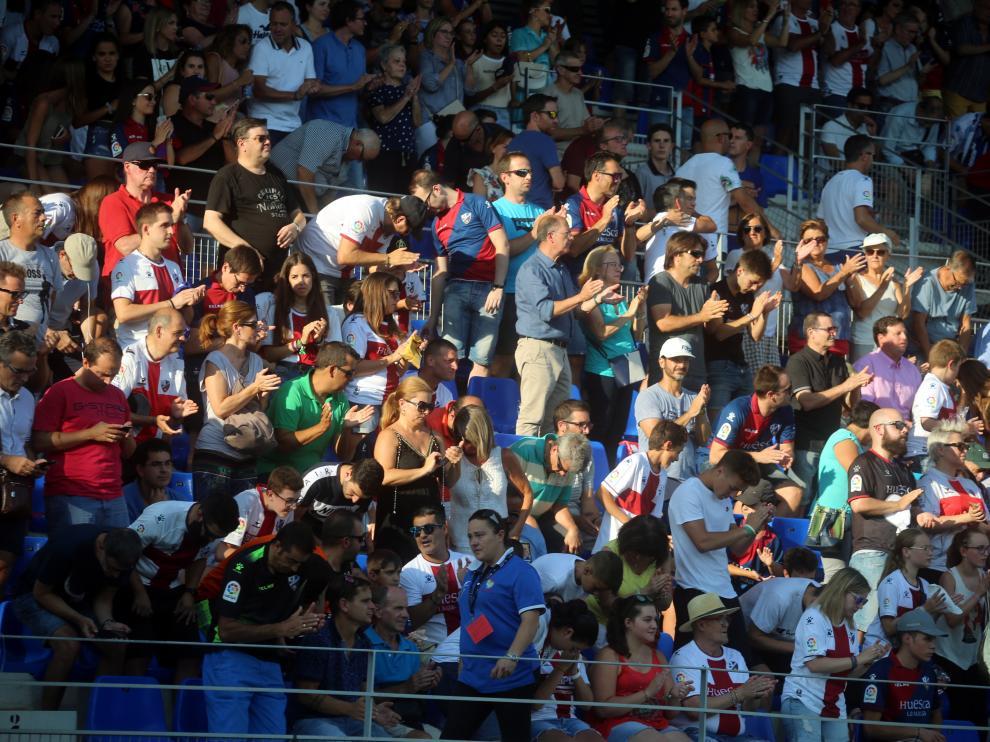 Imagen del público en El Alcoraz en un partido de la pasada temporada