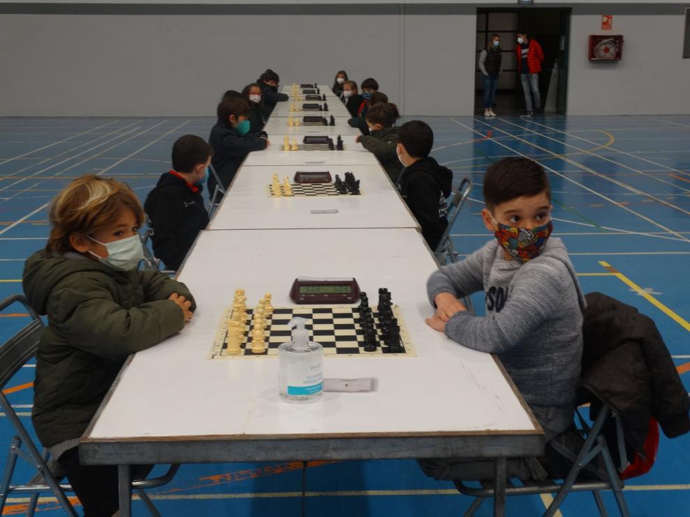 Competición en la categoría de iniciación.