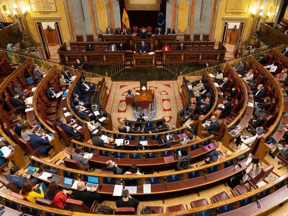 Imagen del hemiciclo del Congreso de los Diputados