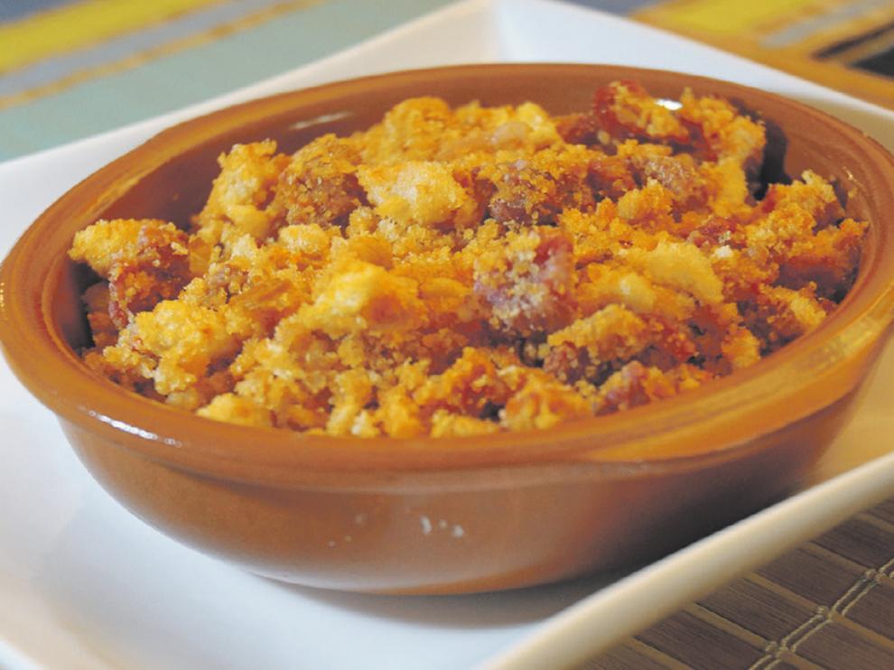 Las migas, uno de los mejores platos que se pueden pedir en un restaurante de la provincia de Huesca.