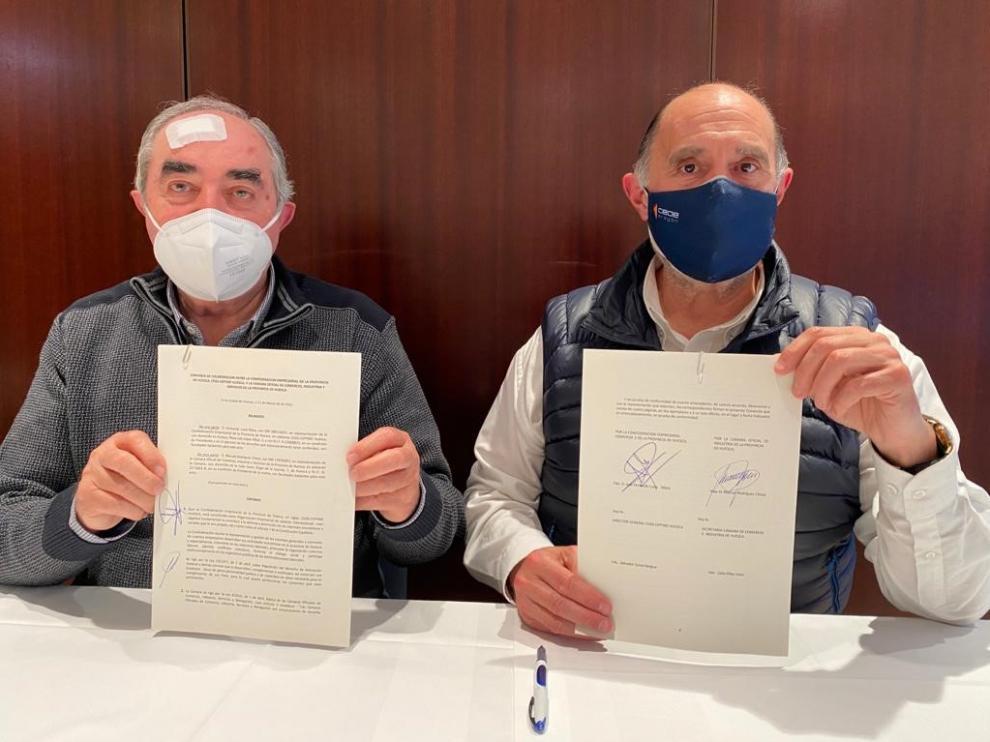 Manuel Rodríguez Chesa y José Fernando Luna, presidentes de Cámara y Ceos-Cepyme Huesca