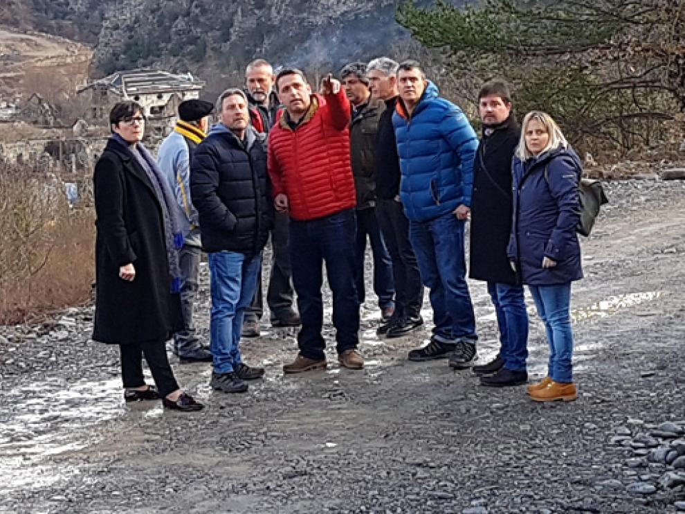 Imagen de archivo de la visita en enero de 2020 al depósito. JÁNOVAS