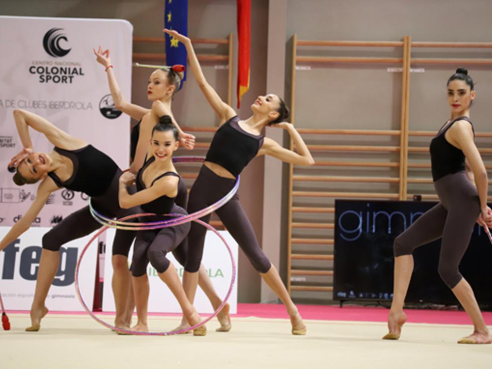 El equipo de gimnasia rítmica de España logró una puntuación de 33,150.