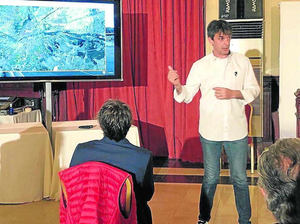 Pacheta durante la charla celebrada el pasado jueves