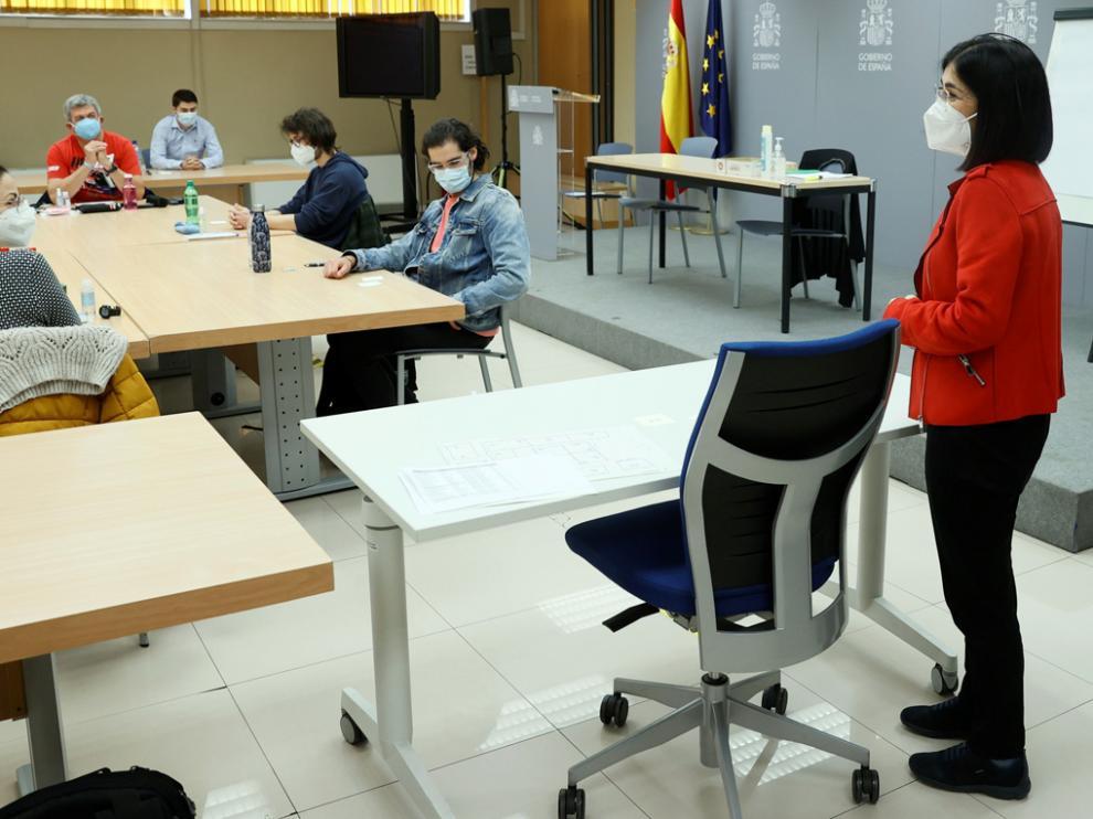 Darias visitó el viernes en Madrid a los aspirantes a las plazas de Formación Sanitaria Especializada.