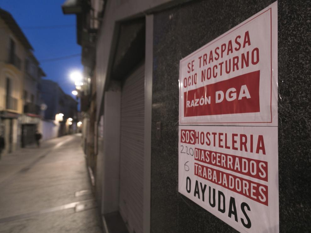 Imagen de archivo de uno de los locales de ocio nocturno en Huesca.