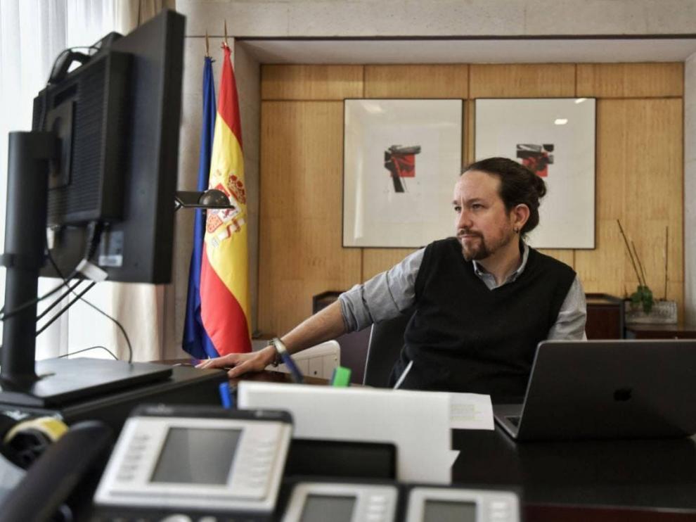 Europa Press[[[DDAARCHIVO]]] El vicepresidente segundo del Gobierno, Pablo Iglesias, mantiene