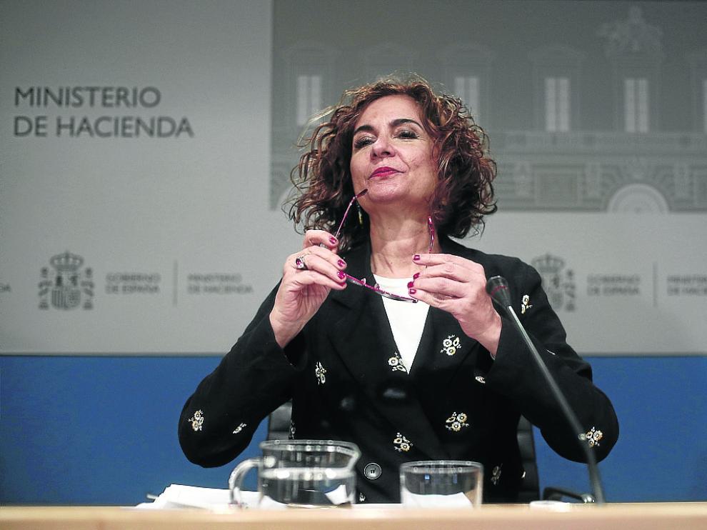 La Ministra de Hacienda, María Jesús Montero, presentó ayer los datos de su departamento.