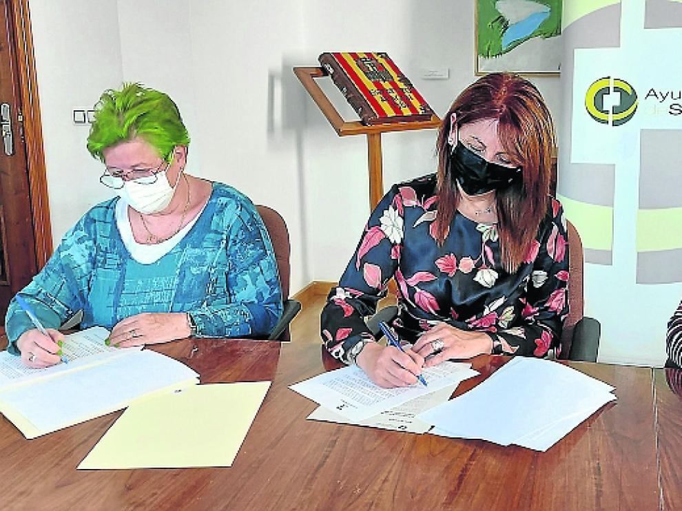 Lyn Briggs, Berta Fernandez e Isabel Mañero.