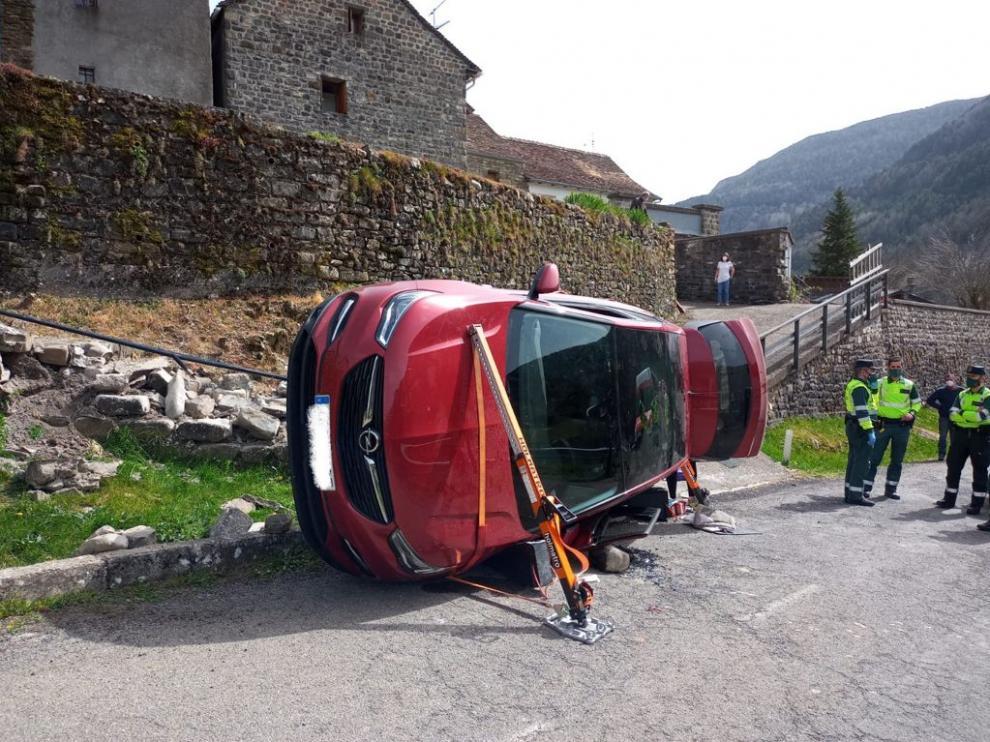 Así ha quedado el vehículo tras el accidente.