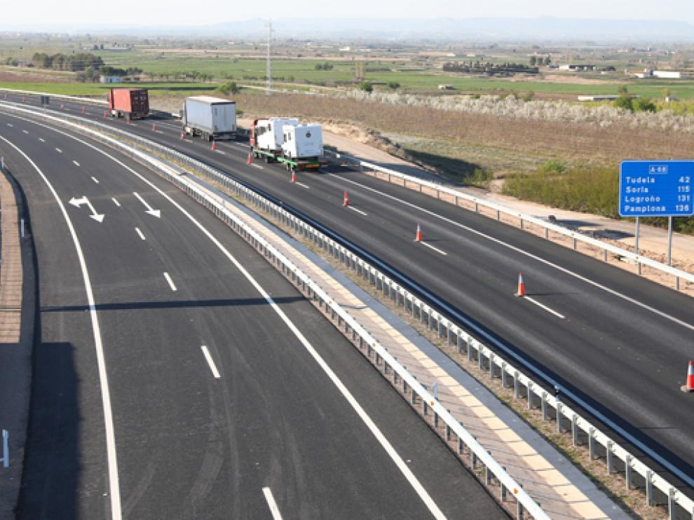 Tramo Figueras-Gallur de la autopista A-68.