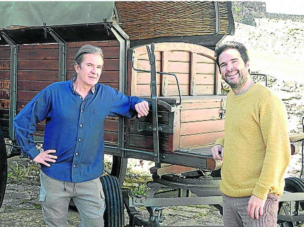 Toño L'Hotellerie y Jorge Andolz, durante un ensayo en la Ciudadela de Jaca.