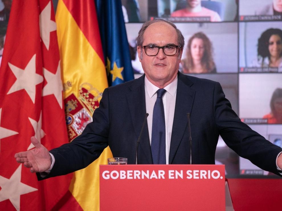 El candidato socialista a la presidencia de la Comunidad de Madrid, Ángel Gabilondo