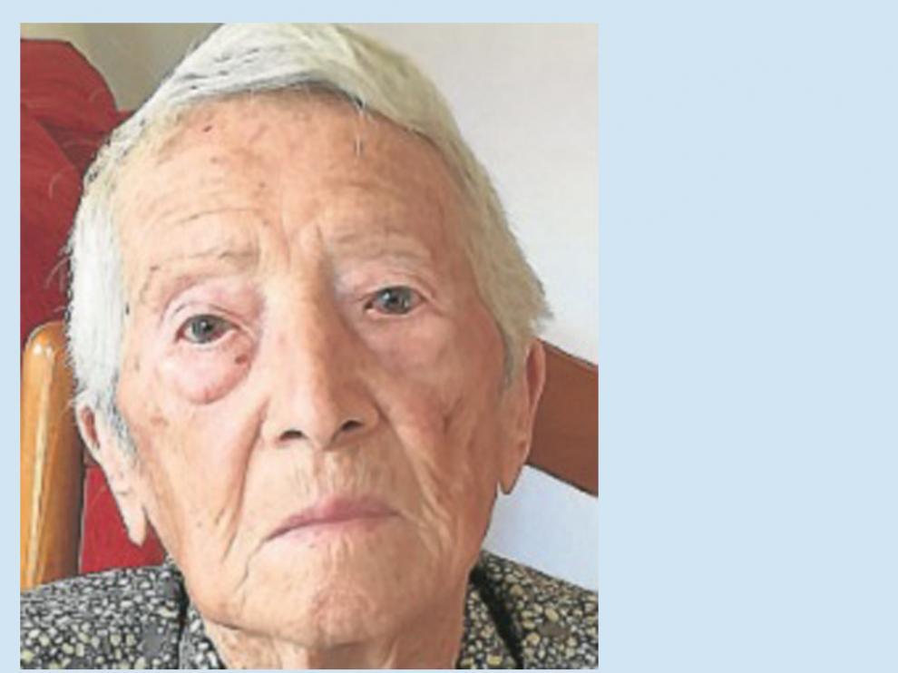 Fallece María Sánchez Ciprés, una de las vecinas más longevas del Sobrarbe.