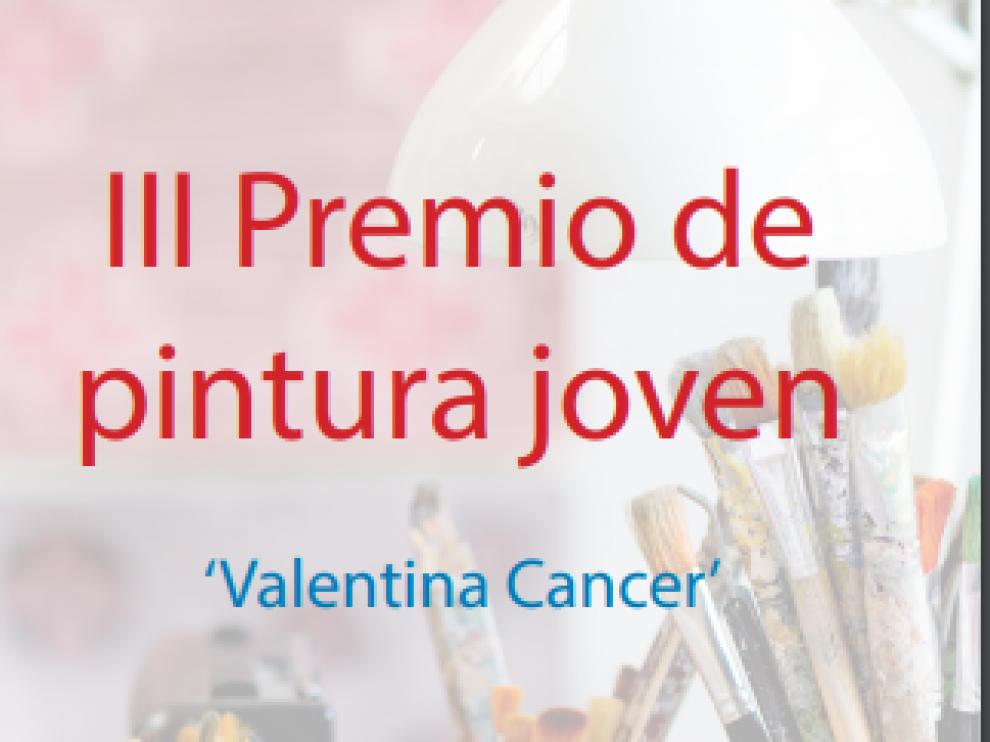 Cartel del III Premio de Pintura Joven 'Valentina Cancer' de Barbastro.