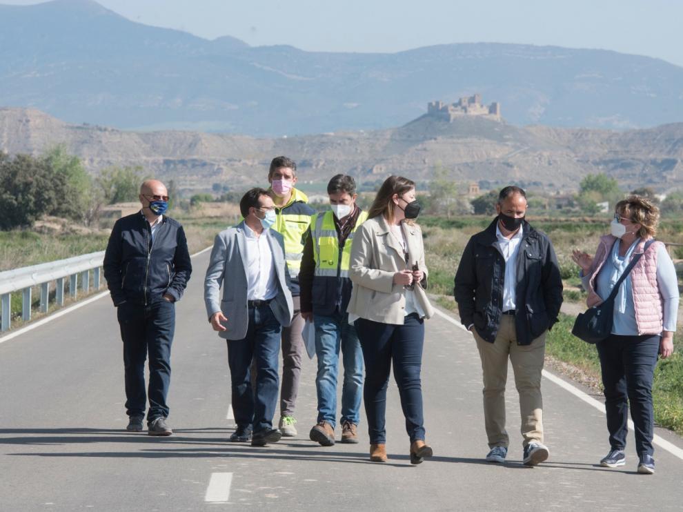 Joaquín Monesma, ha visitado la carretera que une Tierz con Bellestar del Flúmen