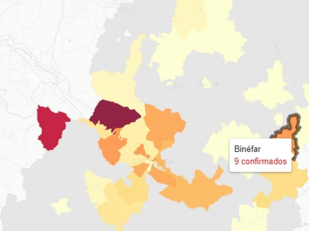 Mapa de contagios de covid publicado este martes 6 e abril