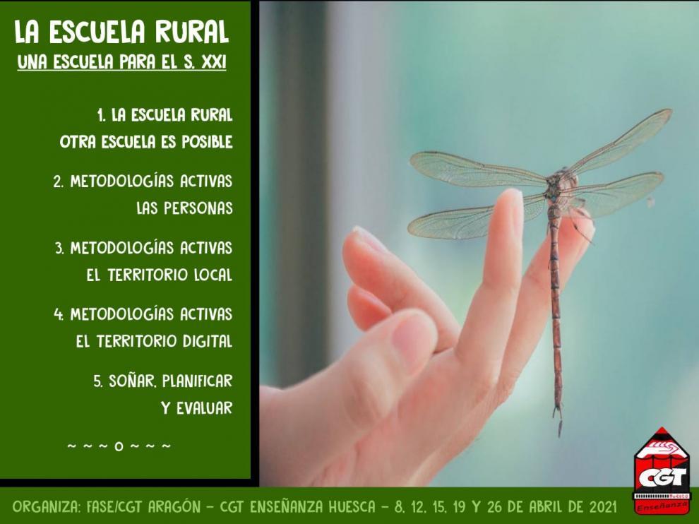Cartel del curso 'La Escuela Rural, una escuela para el siglo XXI'.