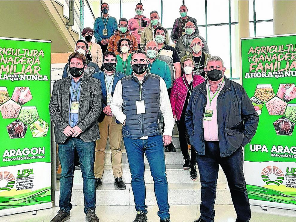 Componentes de la nueva ejecutiva de UPA Aragón.