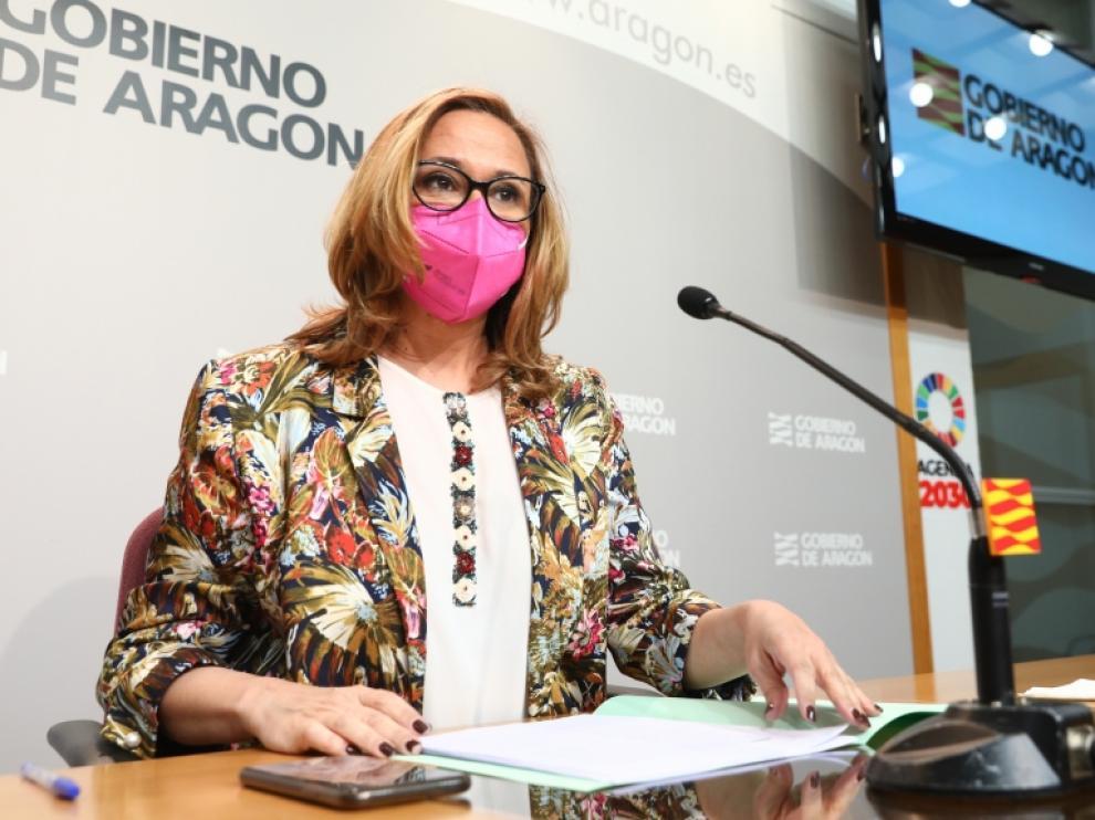 Mayte Pérez durante la rueda de prensa de este miércoles.