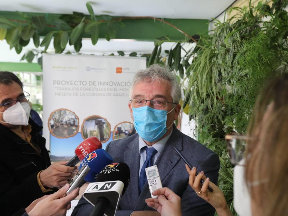 El consejero de Agricultura, Joaquín Olona, este martes en el