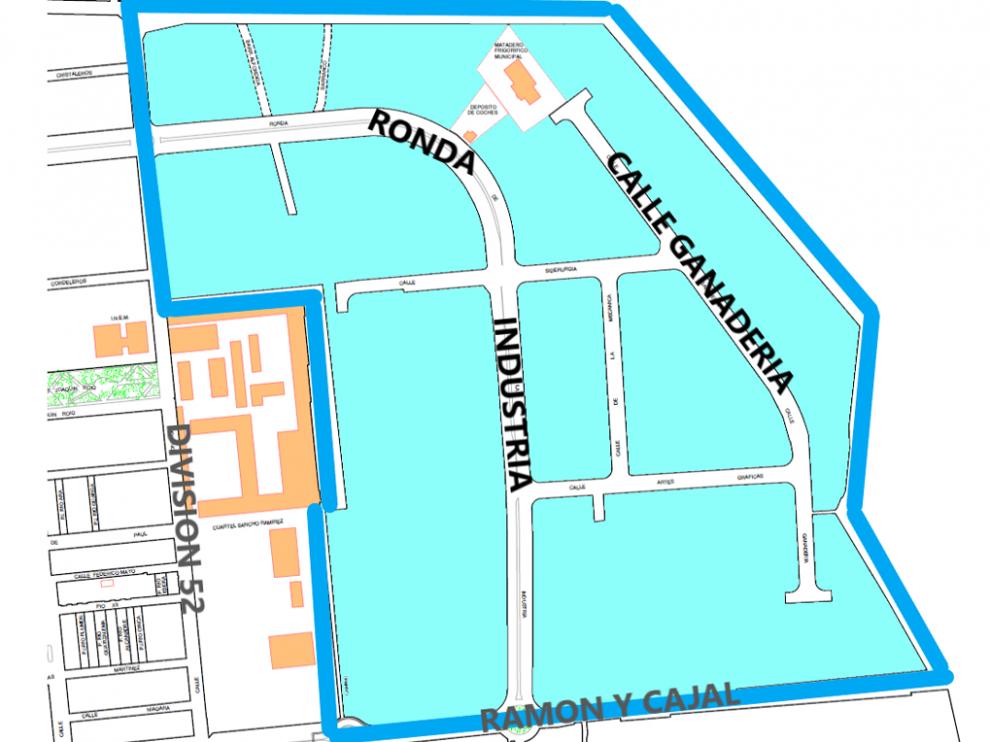 Plano de las zonas afectadas por el corte de agua el 12 de abril