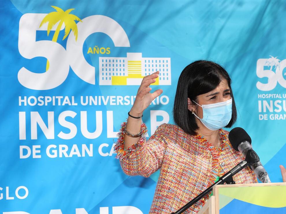 Darias ha visito este sábado el Hospital Universitario Insular de Gran Canaria.