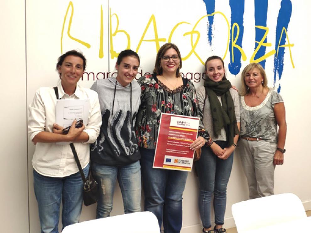 Participantes del taller de emprendimiento del IAM celebrado en 2020 en Graus.