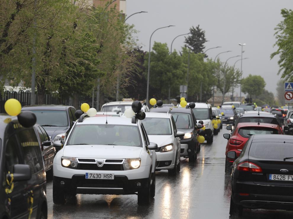 La caravana llevada a cabo por los interinos ha recorrido las calles de la ciudad