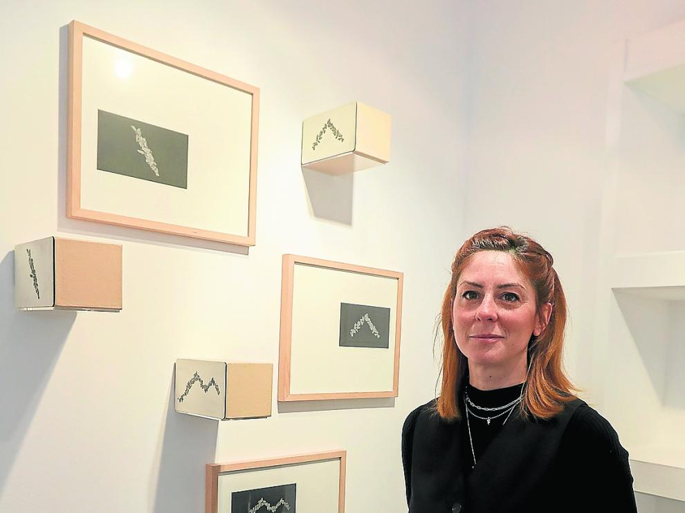 Carla Nicolás, ayer en La Carbonería de Huesca